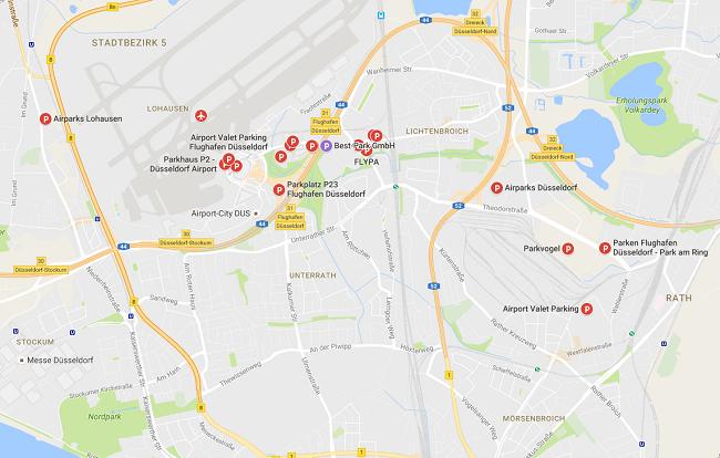 parkeerplaatsen-dusseldorf-airport